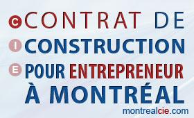 Contrat de construction pour entrepreneur montr al for Contrat construction