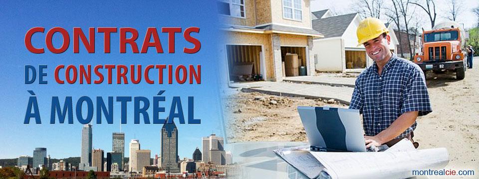 Contrats de construction montr al for Contrat de conception construction
